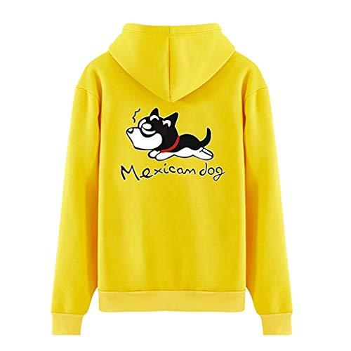 Kostüm Hula Boy - Alwayswin Damen Kapuzenpullover mit Reißverschluss Frauen Jacken Druck Reißverschluss Hoodie Herbst Dünner Mantel Mode Einfarbig Sweatshirt Outwear Strickjacke Langarm Pullover