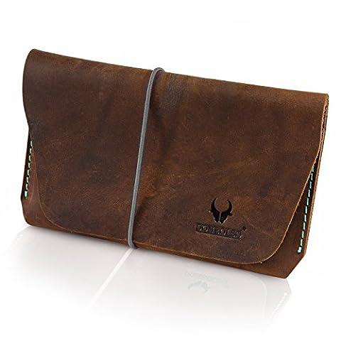 DONBOLSO Reisepasshülle - Vintage-Echt-Leder - für 1 oder 2 Pässe