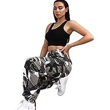 Pantalone,LILICAT® Pantalones largos flojos 2018 Fashion Camo Cargo Pantalones casuales de camuflaje al aire libre (S, Gris)