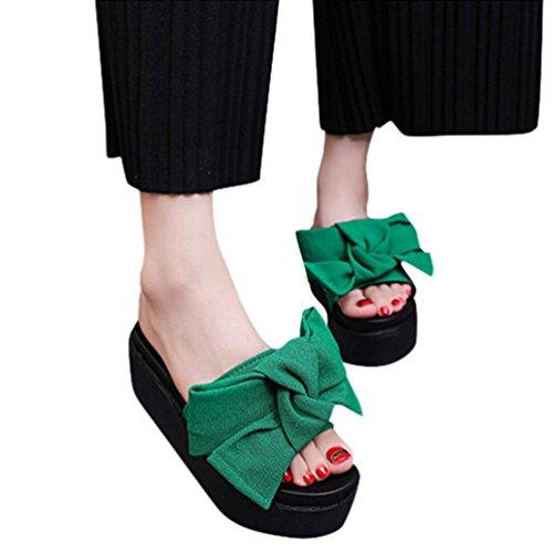 Webla Komfortsandalen Damenschuhe Römersandalen Keilabsatz/ Wedge Moderne Schnalle Sandalen / Sandaletten Offene Sandalen mit Keilabsatz Grün