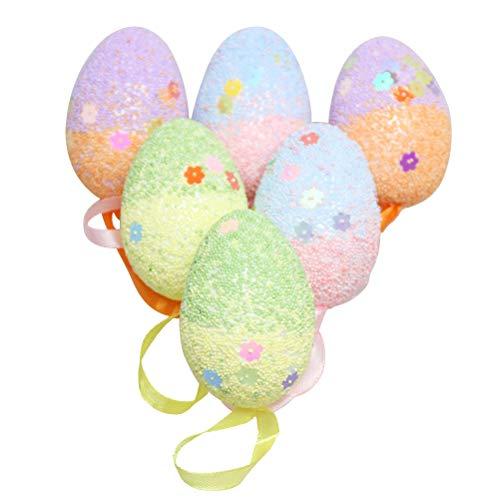 Amosfun 18 pz uova di schiuma per bambini decorazioni pasqua