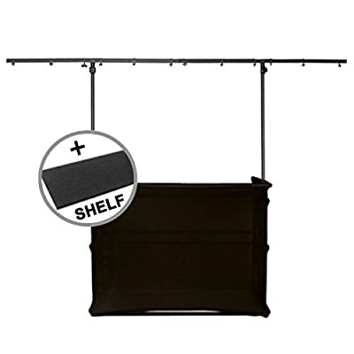 Gorilla GDS-4 4ft Disco DJ Stand Booth inc Scrim Cloth Kit & Shelf
