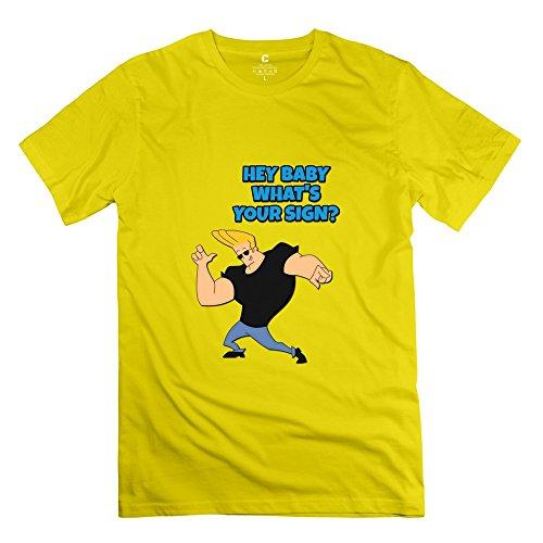 KST Herren T-Shirt Gr. X-Large, Gelb - Gelb (Fall Boy Out Simpsons)