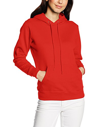 Fruit of the Loom Ss068m, Sweat-Shirt àCapuche Femme Rouge (Red)