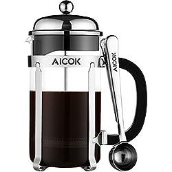 Cafetera de Émbolo Aicok de 8 tazas (1 litro)