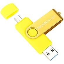 MAXINDA 32GB Penna USB 3.0 Micro 2in1 Memoria Stick per Android Telefono, Tablet e PC (Giallo)