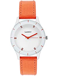 Laurels Colors White Dial Analog Wrist Watch - For Women