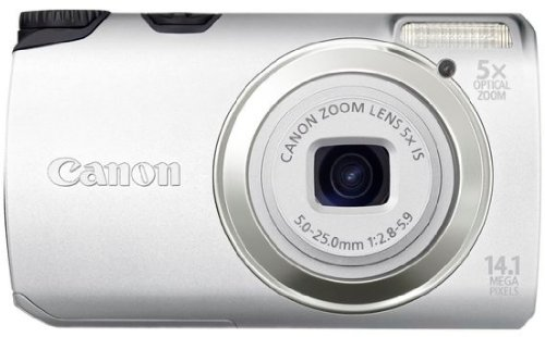 Canon Powershot A3200 is 5 Multiplier_x Silber Leopard Snap