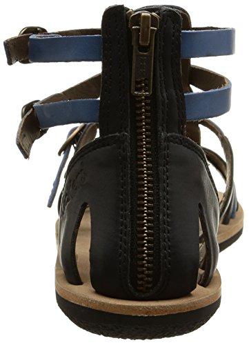 Kickers Spartiaten, Sandales femme Bleu (Noir/Bleu)