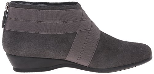 Trotters Latch étroit Daim Bottine Dark Grey