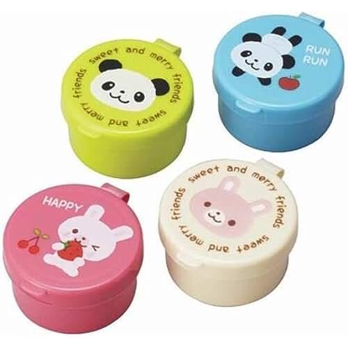 material para la escuela kawaii Mini envases salsas panda conejito caja bento fiambrera