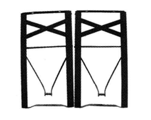 Beine für Sitzbank Bierbank-Set 2 Stück