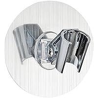 Wenko 22133100 Static-Loc Porte-Pomme de Douche Plastique couleur: Argent 9.5 x 5 x 9.5 cm