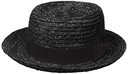 san-diego-hat-company-womens-straw-boater-with-solid-black-bow-and-band-black-one-size
