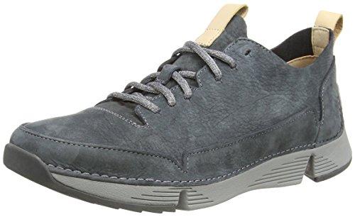 Clarks Herren Tri Spark Sneaker, Grau (Dark Grey), 45 EU -