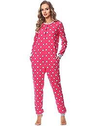 Merry Style Damen Schlafanzug Strampelanzug Schlafoverall MS10-187