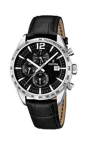 Festina Herren-Armbanduhr XL Chronograph Quarz Leder F16760/4