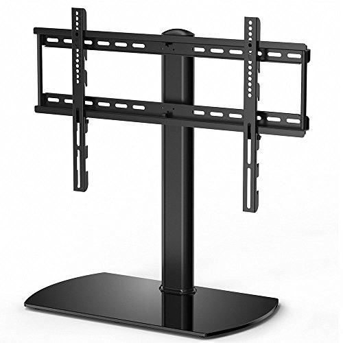 FITUEYES Universal TV Ständer Fernsehtisch Standfuss Glas für 32 bis 65 Zoll LCD LED höhenverstellbar schwenkbar schwarz TT107002GB (Swivel-mount-plasma-tv-ständer)