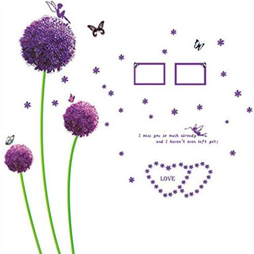 Preisvergleich Produktbild Zuhause Raum Lila Blumenmuster Wandtattoo Wandgemälde DIY Aufkleber Deko