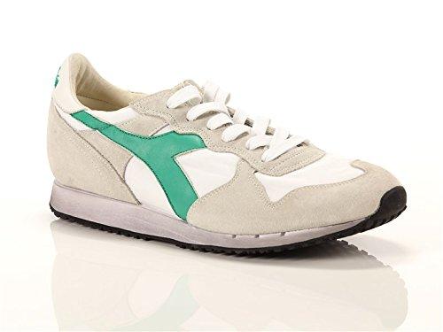 DIADORA HERITAGE uomo sneakers basse TRIDENT NY S.W 201.157083 01 C6155 41 BIANCO-VERDE
