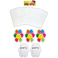 Pack of 10 Invitations Smiling Balloons Birthday Party