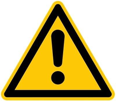 LEMAX® Aufkleber Warnung vor einer Gefahrenstelle ähnlich ISO 7010 ISO-W001 SL 50mm