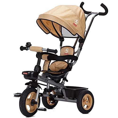 Unbekannt ZGB Spring@ Kinder-Dreirad Bike Dual Steering Geeignet für 1- bis 5-jährige Fahrräder...