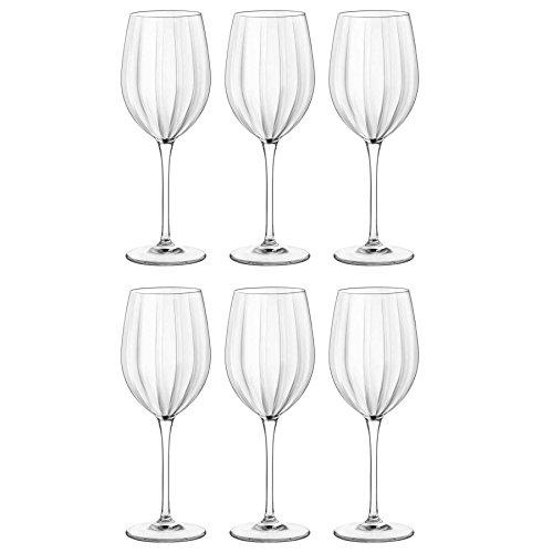 Bormioli rocco, bicchieri da vino, modello incontri, di tipo medio, in cristallo, da 430 ml - confezione da 6