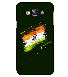 PrintDhaba Indian Flag D-4697 Back Case Cover for SAMSUNG GALAXY A8 (Multi-Coloured)