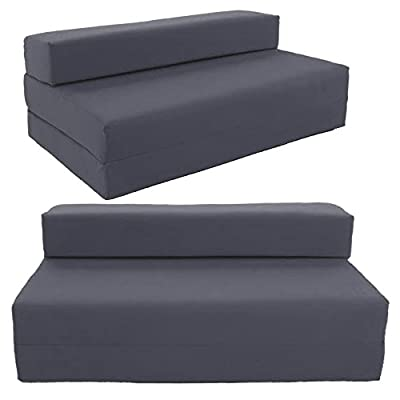 SOFABED - GRAPHITE GREY double Sofa bed chair futon