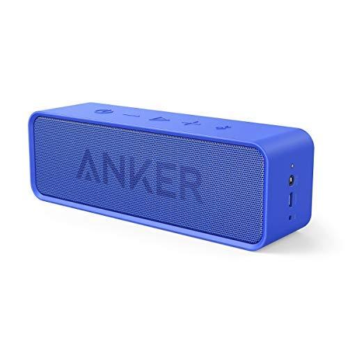 Anker Altoparlante Bluetooth SoundCore (Speaker Portatrile Senza Fili e Microfono Incorporato con Doppia Cassa, Audio di Alta Qualità con Bassi Puliti e Incredibile Durata di Riproduzione di 24 Ore)