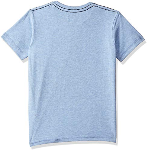 Batman Boys' Plain Regular Fit T-Shirt (BM0GBT591_Allure Blue Mlng_3-4 Years)