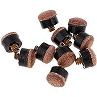 Baoblaze 10 Piezas de Punta de Repuesto para Taco de Billar de Primera Calidad - 11 mm