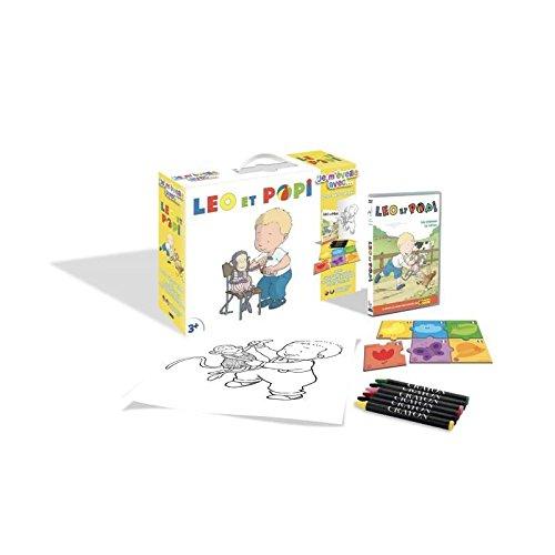 Léo et Popi - Je m'éveille avec... (DVD+Puzzle+6 Crayons pastels + Poster)
