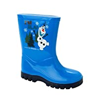 Disney Kids Boys Frozen Olaf Wellington Wellies Waterproof Casual Boots