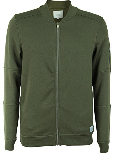 JACK & JONES Herren Jacke Jcopete Sweat Zip Baseball Neck Noos Grün (Dusty Olive)