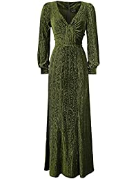 Voodoo Vixen Olive 30s Green Evening Gown Dress Robe olive