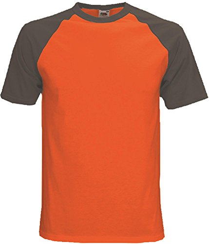 Baseball T-Shirt für Männer - zweifarbig - weiß/royalblau