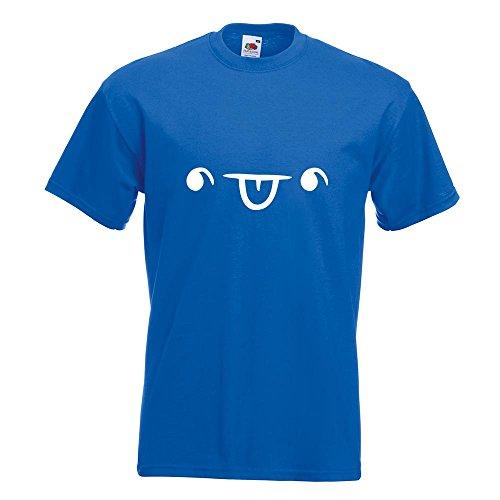 KIWISTAR - Fröhliches Gesicht T-Shirt in 15 verschiedenen Farben - Herren Funshirt bedruckt Design Sprüche Spruch Motive Oberteil Baumwolle Print Größe S M L XL XXL Royal