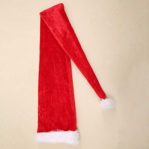 Santa Plüsch Kind Kostüm - BlackEdragon Weihnachtsfeier Weihnachtsmann Langer Hut Samt Rot Weiß Mütze Kostüm Weihnachten Erwachsene Kinder Weihnachten Langer Stil Hüte Weihnachten Lieferungen