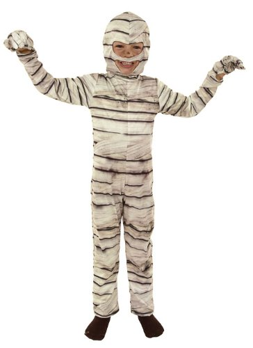 joker M054-002 - Costume Mummia, Bianco, Taglia 2, 8/10 Anni