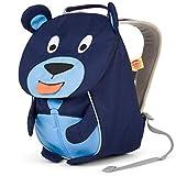 Affenzahn Kinderrucksack mit Brustgurt Bobo Bär für 1-3 Jährige Jungen und Mädchen im Kindergarten oder Kita - Blau
