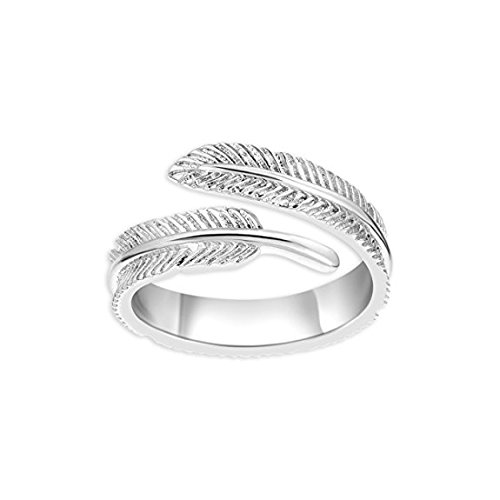 iszie-jewellery-sterling-silver-trendy-feather-adjustable-open-ring