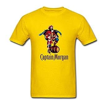 men 39 s captain morgan short sleeve t shirt yellow large clothing. Black Bedroom Furniture Sets. Home Design Ideas