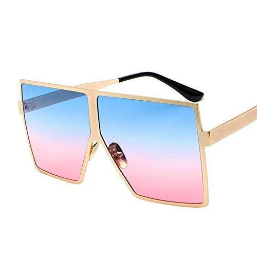 Aoligei Sonnenbrille Metall Trend-Sonnenbrille Retro-großen Rahmen Sonnenbrillen Gläser und Spiegel