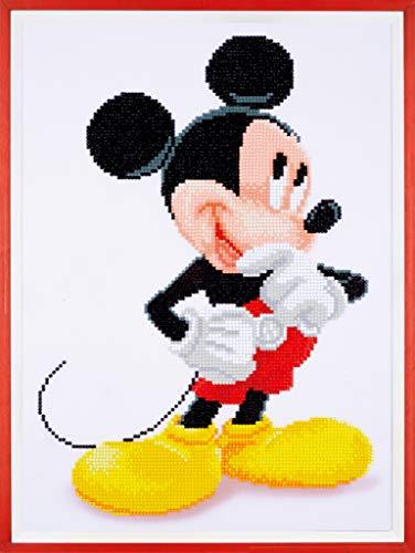 4 Disney Mickey Mouse Diamanten Malerei, acrylic, mehrfarbig, ca. 31 x 43 cm ()