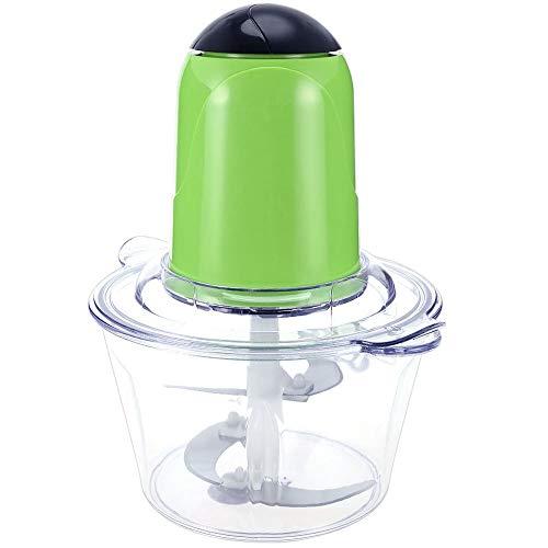 Lopbinte Picadora De Carne Eléctrica Multifuncional para El Hogar 4 Cuchillas De Acero Inoxidable Picadora Casero del Procesador De Alimentos Licuadora De Frutas Verde