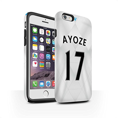 Offiziell Newcastle United FC Hülle / Matte Harten Stoßfest Case für Apple iPhone 6 / De Jong Muster / NUFC Trikot Away 15/16 Kollektion Ayoze