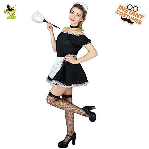 Plus Kostüm Größe Maid Französisch - GAOGUAIG AA Erwachsene Frauen Französisch Maid Kostüme Erwachsene Sexy Fetisch Kostüm Kostüme SD (Color : Onecolor, Size : Onesize)