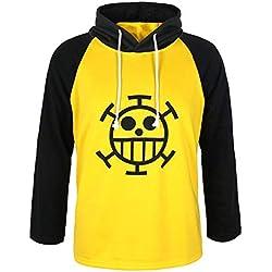 CoolChange Chandail One Piece de Trafalgar Law avec Le Dessin du Jolly Roger de l'équipage des Heart Pirates. Taille: L
